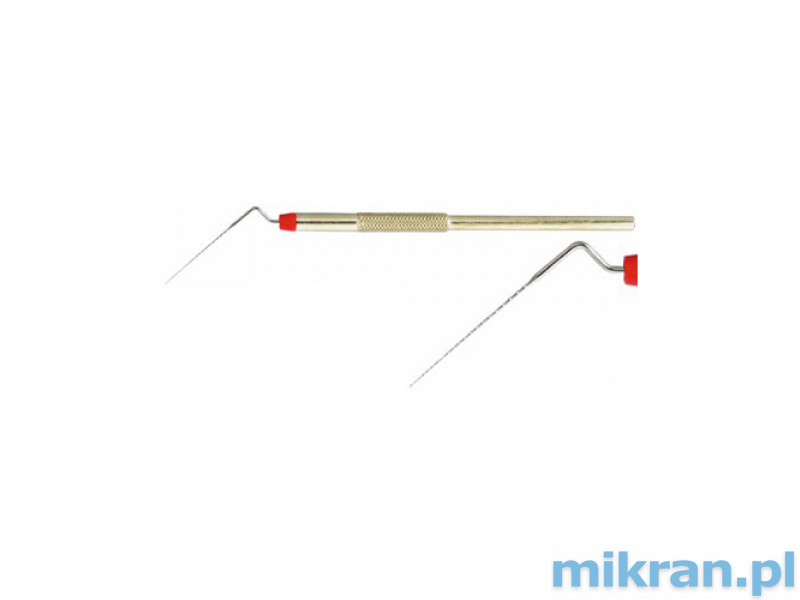 Instrument do wykonywania bruzd, wygięty