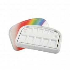 Rainbow porcelain palette