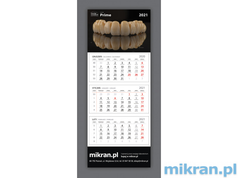 Calendar mikran.pl 2021 - FREE - add up to 2 calendars to your order