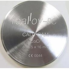 Realloy BC - frézovací kotouč CoCr 98,5x10mm