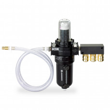 Compressed air filter with connection kit