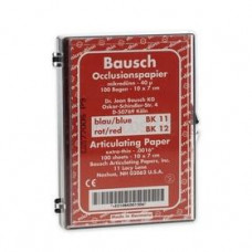 Pauzovací papír Bausch 10x7 cm, červený, BK 12