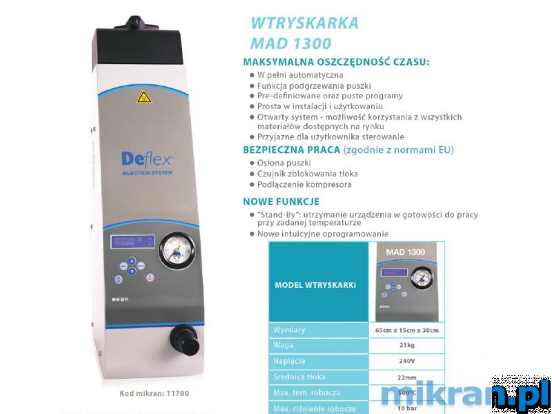 *Deflex - Wtryskarka MAD 1300