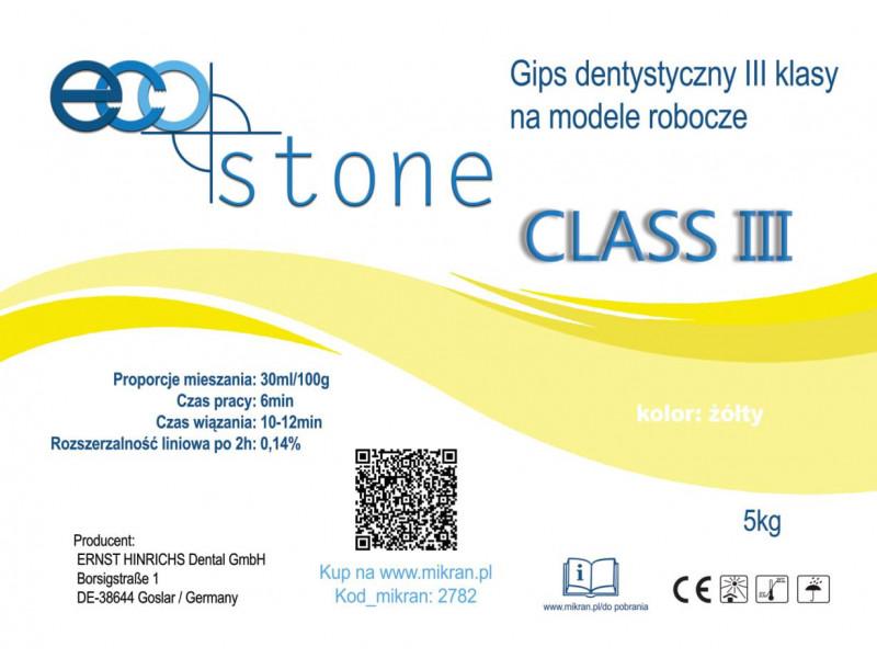 Gips III klasy Eco Stone 25kg żółty