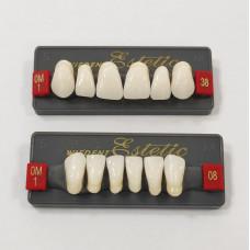 Zęby przednie Wiedent Estetic wybielone OM1, OM3