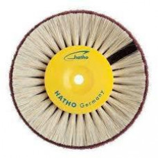 Hatho - brush 80mm white hard bristles + fleece