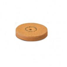 Chamois leather with pumice stone 22mm orange (1 step) EVE