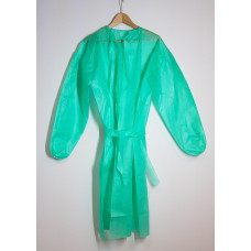 Protective apron made of green fleece, thickness 40 g / m2