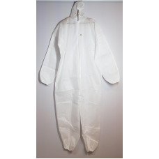 Protective coverall made of non-woven fabric, f.60 g / m2