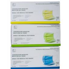 Maseczki ochronne z włókniny z gumką (50szt) - PROMOCJA