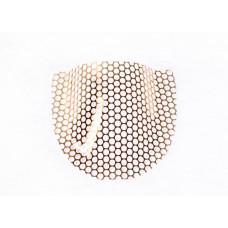 Gold reinforced denture mesh