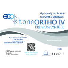 Gypsum IV class. Eco Stone Ortho 25kg Premium super white
