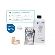 Ips e.max Press 5 pcs x 5 packages + 1x IPS PressVEST Premium Powder 25x100g Promotional package
