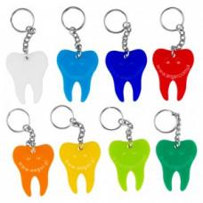 Ein farbiger Zahnschlüsselring
