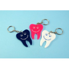 Tooth-shaped key ring