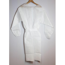 Protective apron made of fleece 50 g / m2, white